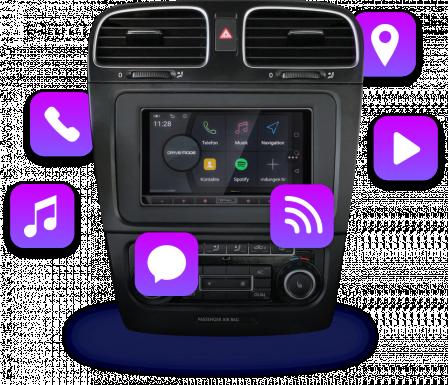 Mit unseren Komplettlösungen für Autoradio und Navigation